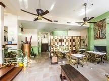 艺术装饰样式殖民地旅馆的大厅在迈阿密 图库摄影