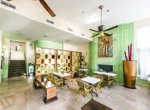 艺术装饰样式殖民地旅馆的大厅在迈阿密 免版税库存图片