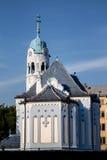 艺术装饰样式的蓝色教会,布拉索夫,斯洛伐克 免版税库存照片