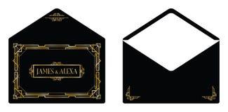 艺术装饰样式邀请卡片 免版税库存图片