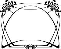 艺术装饰框架 免版税库存图片
