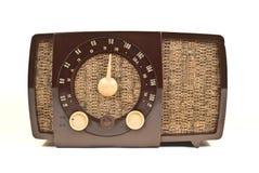 艺术装饰老收音机 库存图片