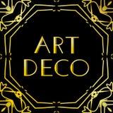 艺术装饰葡萄酒框架或边界 在黑背景隔绝的豪华设计 对商标,标签,标志装饰传染媒介 皇族释放例证