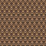 艺术装饰黑色和金子几何样式样式 免版税库存照片