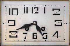 从20世纪初的艺术装饰clockface 免版税库存照片