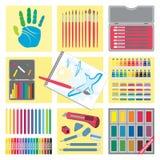 艺术要素图标绘 免版税库存照片