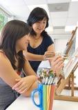 艺术课程 免版税库存图片