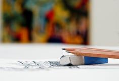艺术课 免版税图库摄影