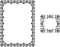 艺术边界deco框架样式 库存图片
