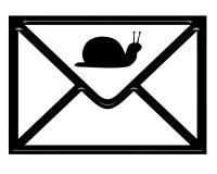 艺术邮件蜗牛 免版税库存图片