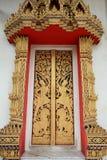 艺术门金装饰品模式寺庙 免版税库存照片