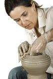 艺术陶瓷工s 库存图片