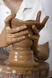 艺术陶瓷工s 库存照片