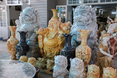 艺术雕刻石头,越南 库存图片