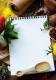 艺术食物食谱 库存图片