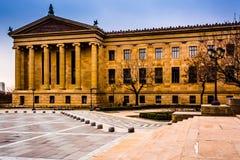 艺术馆的外部在费城,宾夕法尼亚 免版税库存照片