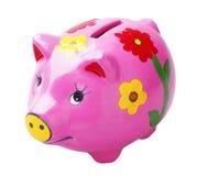 艺术贪心银行的猪 免版税库存图片