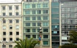 艺术玻璃Acoruña市建筑学加利西亚西班牙 图库摄影