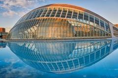 艺术&科学城市全景复杂在巴伦西亚 免版税库存图片