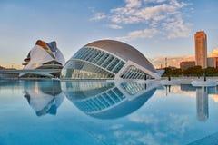 艺术&科学城市全景复杂在巴伦西亚 库存图片