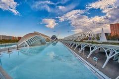 艺术&科学城市全景复杂在巴伦西亚 免版税图库摄影