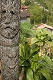 艺术batad ifugao部族杆的图腾 免版税库存照片