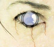 艺术CD的盖子眼睛恐怖 免版税库存照片