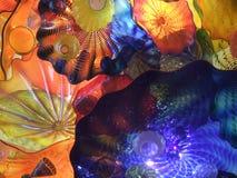 艺术chihuly五颜六色的玻璃 库存照片