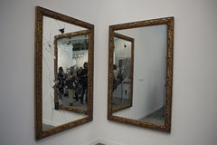 艺术contempor展览fiac法国现代巴黎 库存照片