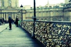 艺术des巴黎pont 免版税图库摄影