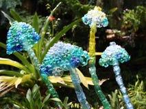 艺术funghi宠物塑料雕塑 免版税库存照片