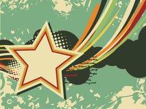 艺术grunge减速火箭的星形 免版税库存图片