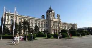艺术Kunsthistorisches博物馆在维也纳,奥地利 免版税库存照片