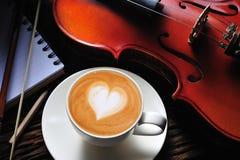 艺术latte 免版税库存照片