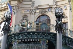 艺术Nouveau大厦在布拉格 免版税库存照片