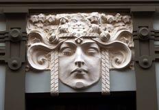 艺术Nouveau大厦门面 库存图片