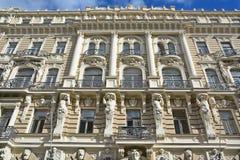 艺术Nouveau大厦细节  库存照片