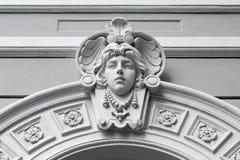 艺术Nouveau大理石雕塑在的里雅斯特 免版税库存图片