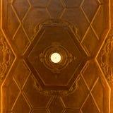 艺术Nouveau天花板装饰 免版税库存图片