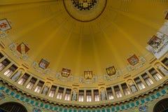 艺术Nouveau样式的圆顶在主要火车站的。 图库摄影