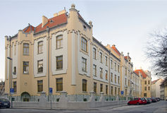 艺术nouveau高中在布拉索夫,斯洛伐克 免版税库存照片