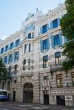 艺术nouveau,里加的大厦 免版税库存照片