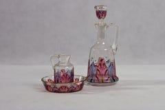 艺术Nouveau玻璃-香水瓶- 1900年-1905 免版税库存图片