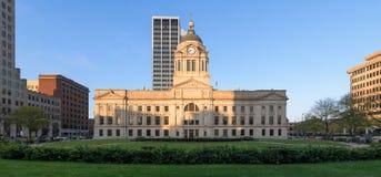 艾伦县法院大楼在韦恩堡 免版税库存照片