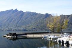 艾克斯・莱・班恩斯, Bourget湖小游艇船坞,开胃菜,法国 库存图片