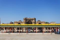 艾哈迈达巴德,印度- 2014年12月28日:Jama的Masjid回教人 库存照片