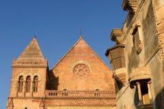 艾娜玛哈尔宫殿在普杰,古杰雷特,印度 免版税库存图片