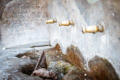 艾尼克斯村庄喷泉,在阿尔梅里雅,西班牙 免版税库存图片