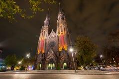 艾恩德霍芬, NETHERLAND - 2017年10月17日:艾恩德霍芬大教堂 St凯瑟琳` s教会 免版税库存照片