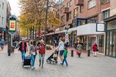 艾恩德霍芬, NETHERLAND - 2017年10月17日:艾恩德霍芬都市风景 免版税库存照片